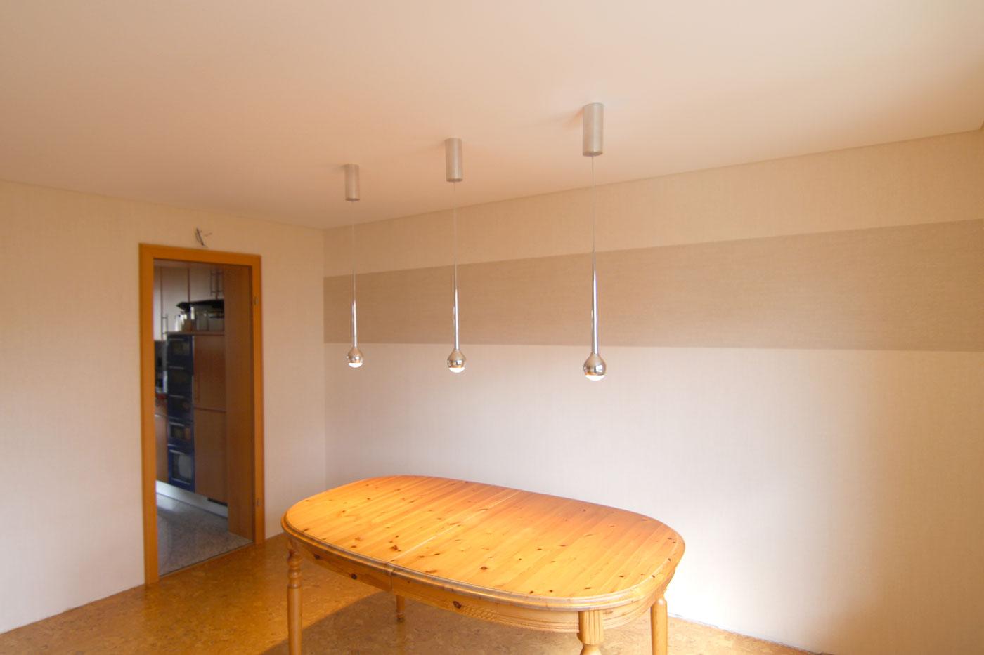 Spanndeckenstudio Teller - Beleuchtung - vorhandene Leuchten