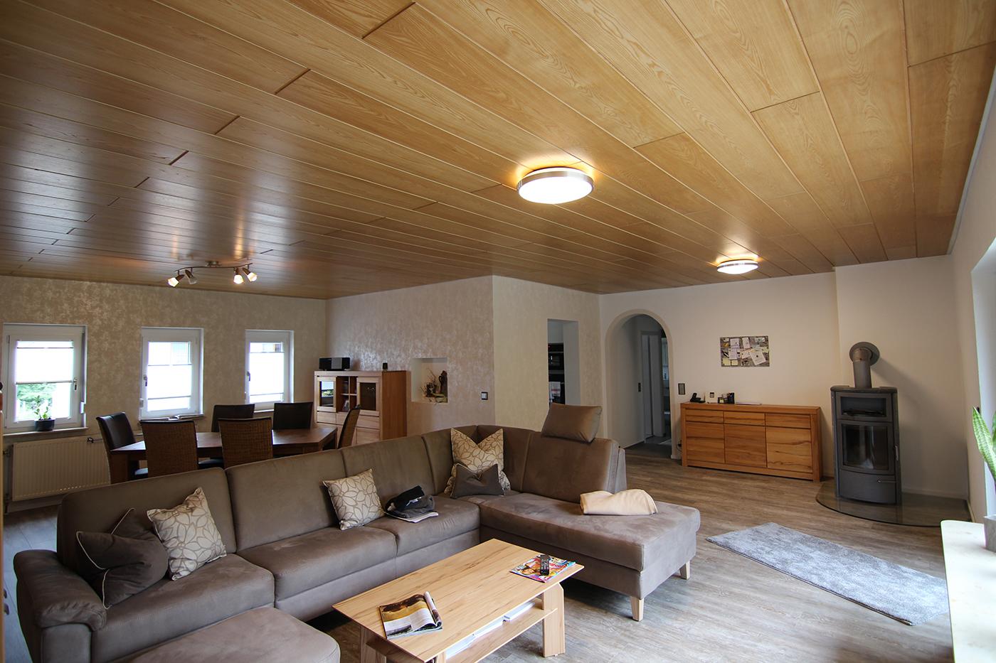 Spanndecke - Wohnzimmer - weiß matt