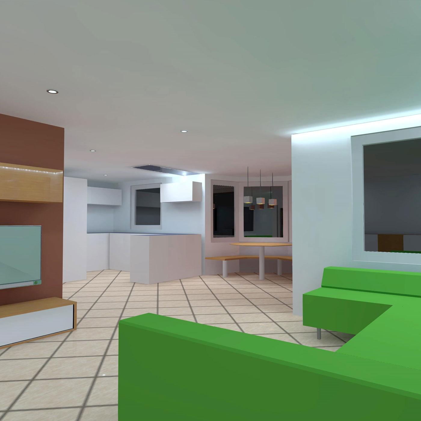 Spanndeckenstudio Teller - Lichtplanung
